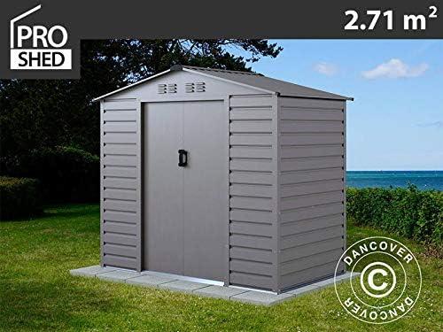 Dancover Caseta de Jardin 2, 13x1, 27x1, 90m ProShed®, Aluminio Gris: Amazon.es: Jardín