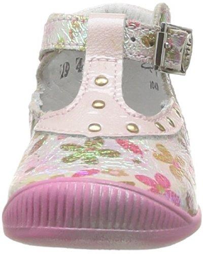 Rosa Raiza Peau S Little fille Rose Plumetis Fiori Chaussures premiers D Mary pas bébé qpzTFw