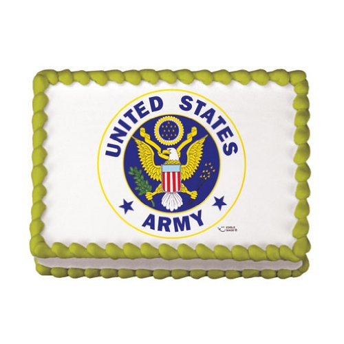 US Army Logo Edible Icing Image for 1/4 sheet cake