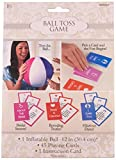 Amscan Ball Toss Bridal Shower Party Game, 46 Pieces, Made from Rubber/Paper, Multicolored, by