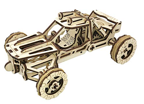 3D Wooden Puzzle Gifts for Teens Wooden Puzzles for Adults Model Kit Engineering Toys Mechanical Model Dune Buggy Car
