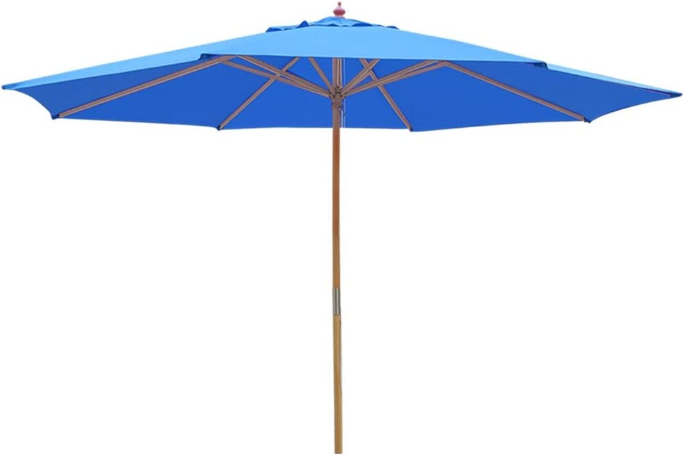 Yescom 13ft XL Outdoor Patio Umbrella w German Beech Wood Pole Beach Yard Garden Wedding Cafe Garden Blue