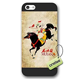 Disney Cartoon Mulan Frosted Phone Case & Cover for iPhone 5c - Black