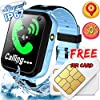 AMENON GPS Tracker for Kids Watch – [SIM Card Supply] IP67 Waterproof Kids Smart Watch Phone for Boys with Two-Way Phone Call Camera Game Smartwatch Children School Birthday Gifts