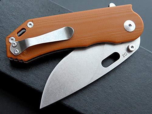 Eafengrow Pocket Knives D2 Blade G10 Handle Folding Camping Knife Mini Outdoor Pocket Knife Survival Tool (EF32-brown) by Eafengrow (Image #4)