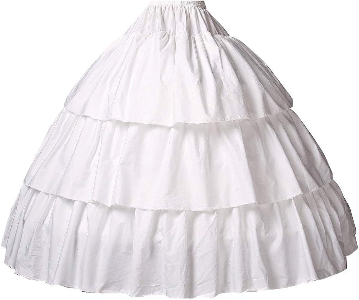 BEAUTELICATE Girls Petticoat 100/% Cotton Crinoline Underskirt for Kids Flower Dress Slip 3 4 Hoops Light Ivory 5 Length for 1-16 Years Old
