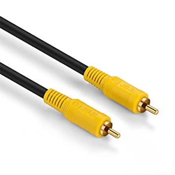 JSJ Premium Digital Coaxial Audio Video A/V Cable 75OHM Subwoofer SPDIF 1RCA Male to