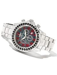 Invicta Mens Pro Grand Diver Swiss Chronograph Limited Edition Black Spinel Bezel SS Watch 14109