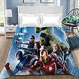 "CLOVERDRESS Marvel Avengers película niños Super Suave Microfibra sábana Plana para niños, estilo6, 67 * 79""(170 * 230cm"