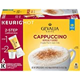 GEVALIA Cappuccino K-CUP Pods and Froth Packets - 6 count (Pack of 6)