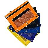 3 Ring Pencil Pouch Zipper Binder Pocket (Pack of5) School Supplies