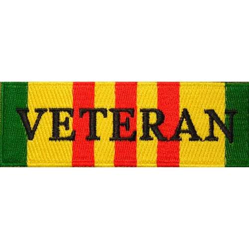 EagleEmblems PM0252 Patch-Vietnam,Svc.Ribbon Veteran (4.25'') (Ribbons Svc)