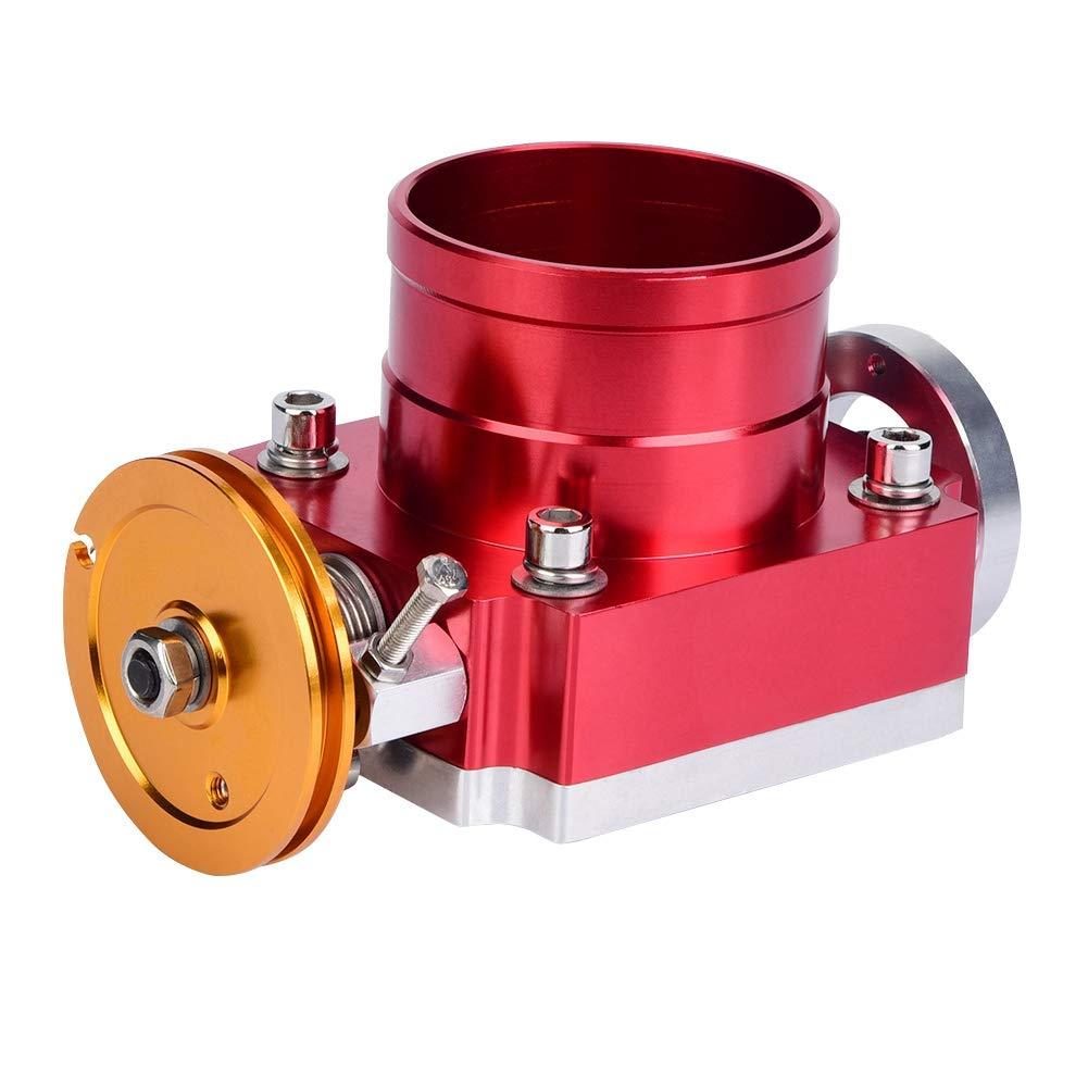 Plata Cuerpo del acelerador 70 mm para acelerador mec/ánico general CNC Aluminio Universal Colector de admisi/ón de alto flujo Cuerpo del acelerador