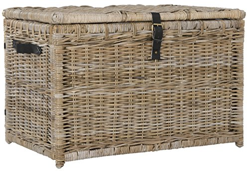Happimess Michael 35 Wicker Storage Trunk Natural
