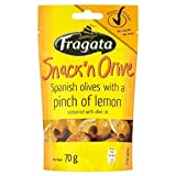 Fragata Snack 'N' Green Olives with Pinch of Lemon (70g) - Pack of 6