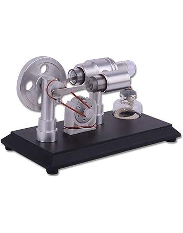GODNECE Stirling Engine Stirlingmotor Kit DIY Stirlingmotor Mini Außenere Verbrennungsmaschine - Doppelzylinder