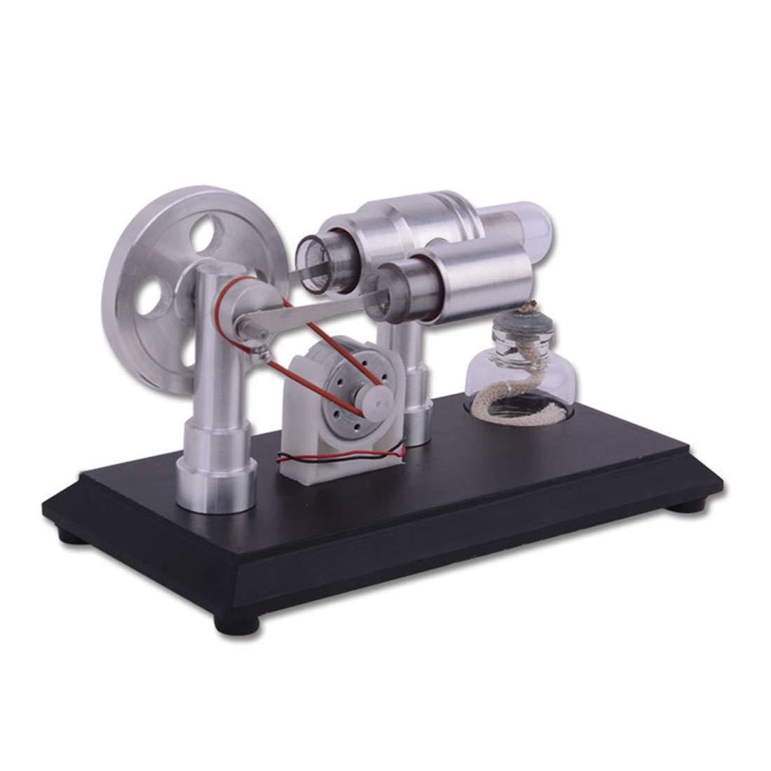 Doble Cilindro Stirling Engine Kit con Generador Ciencias Educativos Juguetes YVSoo Motor Stirling
