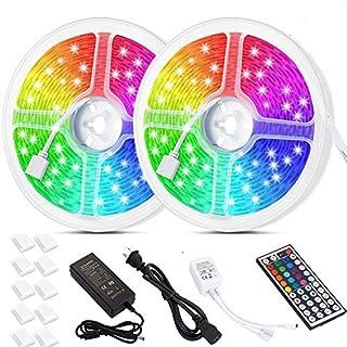 Litake LED Strip Lights 32.8ft, Waterproof Color Changing LED Light Strips,SMD 5050 300 LEDs 44 Keys IR Remote Flexible LED Tape Strip Lights for Bedroom Home