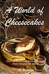 Decadent and delicious!  Luscious and creamy!  What would you do for a well-crafted dessert that you thought you'd have to travel thousands of miles just to eat one.  A World of Cheesecakes does one better.  This book proves that homemade che...