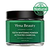 #10: Natural Teeth Whitening Powder - Made with Food Grade Formula and Organic Coconut Activated Charcoal - Spearmint Flavor (30g)