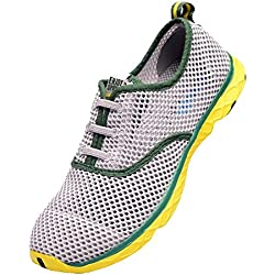 TOOSBUY Men's Quick Drying Aqua Water Shoes Green 8.5 D(M) US