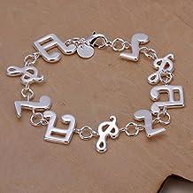 Dancing Zone Zh242 Music Bracelets Sale 925 Silver Charm Bracelet / Silver Jewerly
