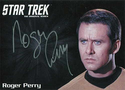 Star Trek TOS 50th Anniversary Autograph Silver Roger Perry as Capt. Christopher