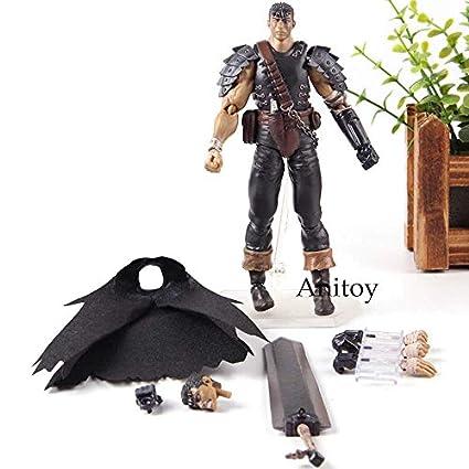 Amazon.com: 15cm (5.9 inch) Berserk Guts Black Swordsman Ver ...
