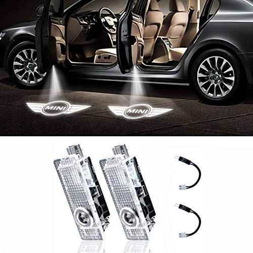 Eogifee LED Mini Logo Car Door Light Projector Courtesy LED Laser Welcome Lights Ghost Shadow Light Lamps for Mini Cooper 12V(2 Pcs)