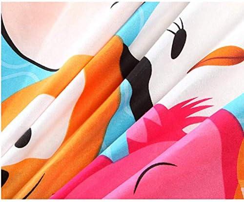 Disney Cartoon TSUM Parure de lit pour enfants avec housse de couette/drap plat/taies d'oreiller pour enfants Décoration de la maison 1,5 m Lit Queen 4 pièces