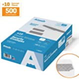 #10 Double Window Security Business Mailing Envelopes for Invoices, Statements and Legal Documents - GUMMED Closure, Security Tinted - Size 4-1/8 x 9-1/2 - White - 24 LB - 500 Count (30101)