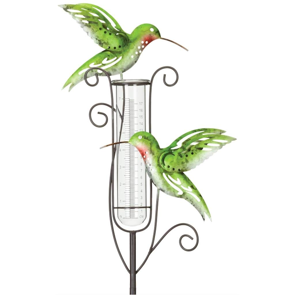 Regal Art & Gift 12091 Capri Rain Gauge Hummingbird Garden Stake, Green