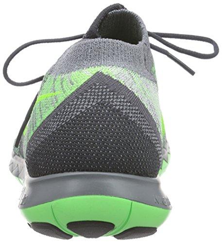 NikeFree 3.0 Flyknit - Zapatillas de running para mujer Verde  ( Anthrct / Vltg Grn-Cl Gry-Drk Gr 002 )