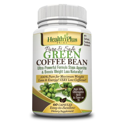 Best Green Coffee Bean Extract 100% Pure & Natural 1 Ingredient Maximum Weight Loss. Safe & Easy To Take Proven 800mg Serving  50% Chlorogenic Acid. No Fillers All Natural Healthy Weight Loss