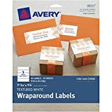 Avery Dennison Textured Wraparound Labels, White, Pack Of 50, 7.85