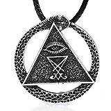 Paw Paw House Sigil of Lucifer Necklace Pagan Wiccan Talisman Church of Satan F4010 (4010 Sigil of Lucifer)