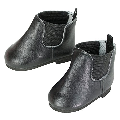 - Sophia's Black Chelsea Booties for 18 Inch Dolls, Fits American Dolls & More!