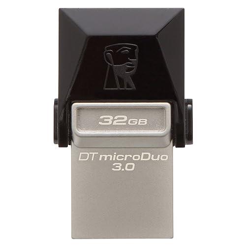 Kingston - DTDUO3/32GB - DataTraveler - MicroDuo Clé USB - 32 Go - Noir