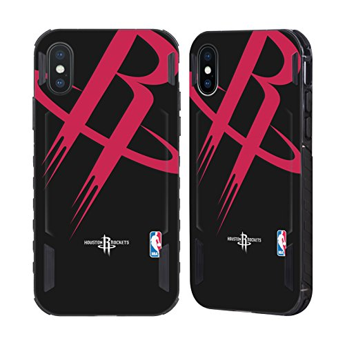 Icon Rockets - Official NBA Oversized Icon Houston Rockets Black Evolution Case for Apple iPhone X