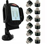 Tire Pressure Monitoring System for RVs and Trucks with 12 Sensors plus Booster/Repeater