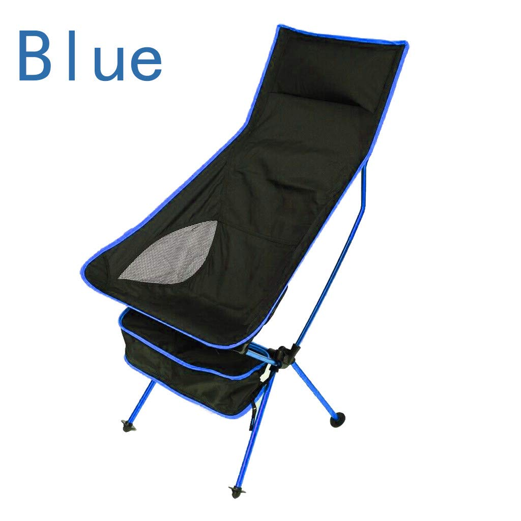 Sunnyys Outdoor Portable Camping Aluminum Stool Outdoor Back Folding Chair Fishing
