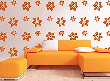 Buy Adroit Art Reusable Diy Wall Stencil Design For Wall Painting Flower Design Wall Stencil 2 Stencils Size 11x11 7x7 Inches 1 Drawing Stencil For Kids Free Online At Low Prices