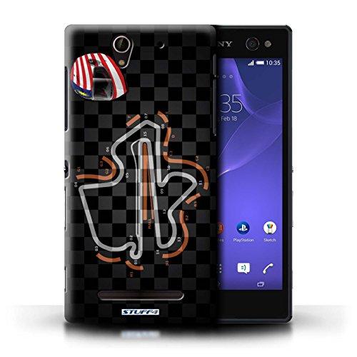 Kobalt® Imprimé Etui / Coque pour Sony Xperia C3 / Malaisie/KualaLumpur conception / Série 2014 F1 Piste