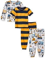 The Children's Place Baby Boys' 4 Piece Short Sleeve Pajama Set