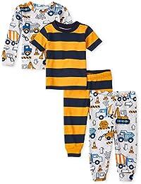 Baby Boys' 4 Piece Short Sleeve Pajama Set