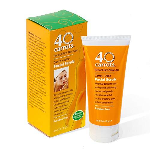 40 Carrots Carrot Aloe Facial Scrub (40 Carrots Retinol Rich Skin Care Reviews)