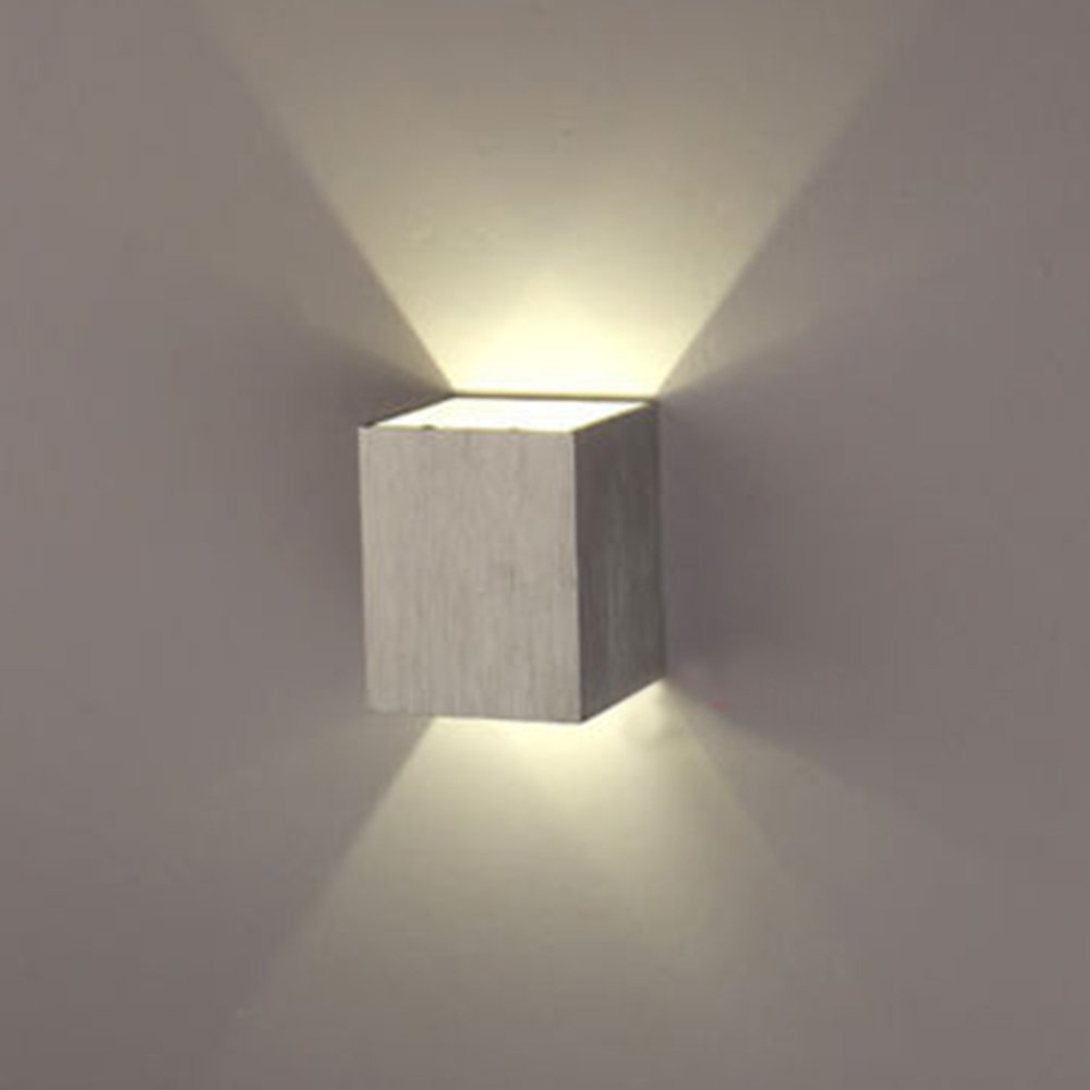 AGPtek 3W LED Wall Lamp for Living Room Flush Mount Hall Porch Walkway Light Living Room Light Bedroom Lamp for All kind of Wall (Black) HS106B-MBEU