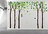AmazingWall 180X264cm/70.9x103.9'' Cartoon Large Tree Wall Sticker Living Room Bedroom Kids' Room Nursery Decor Home Decorations Removeable 1PCS/SET