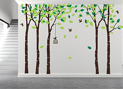 AmazingWall 180X264cm/70.9x103.9'' Cartoon Large Tree Wall Sticker Living Room Bedroom Kids' Room Nursery Decor Home Decorations Removeable 1PCS/SET by AmazingWall