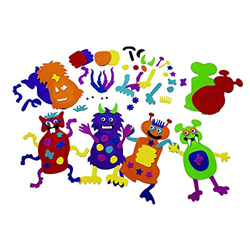 Colorations Monsters Monstrous Monster-Making Craft Kit Kit for 12 (Pack of 12)